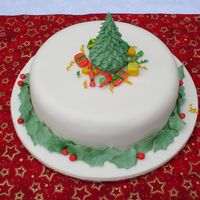 2004 Christmas Cake This was a 20cm dark fruit cake covered in fondant. I wasn't happy with the overall cake, but was impressed with the tree - a cone of...