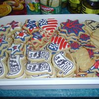 4Th Of July Cookies NFSC with Antonia74's RI. Always a huge hit at my family's gatherings. Not many left to bring home, not that I would have been...