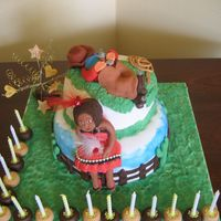 Wild West Birthday Cake This cake was for a fancey dress party with a wild west theme.