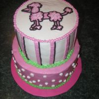 Pink Poodle I loved doing this cake! This was for a litlle girl's first birthday and all the mother told me was that her daughter liked dogs! My...