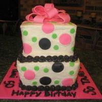 50Th Birthday Sorry the picture is so small! This was for a lady's 50th birthday. The only thing I didn't like about this cake was that I...