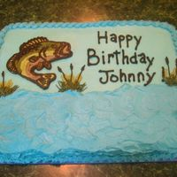 Bass Fish Client asked for a cake with a bass fish on it. I just got a picture of the fish off the internet and did a FBCT. This was a very simple...