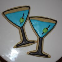 Martini's!!!! Sugar cookies with RI. Made for my husband :) Thanks to Double Trouble for the wonderful idea. TFL
