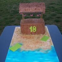 Tiki Bar This is a cake I made for my niece's 18th birthday. It had real lights in it with fondant lanterns