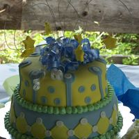 Kelli's Baby Shower This is one that I did for my friends baby shower. It's only the 2nd cake I've ever decorated.