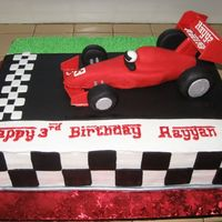 Formula One Race Car Cake Troublesome cake!!!
