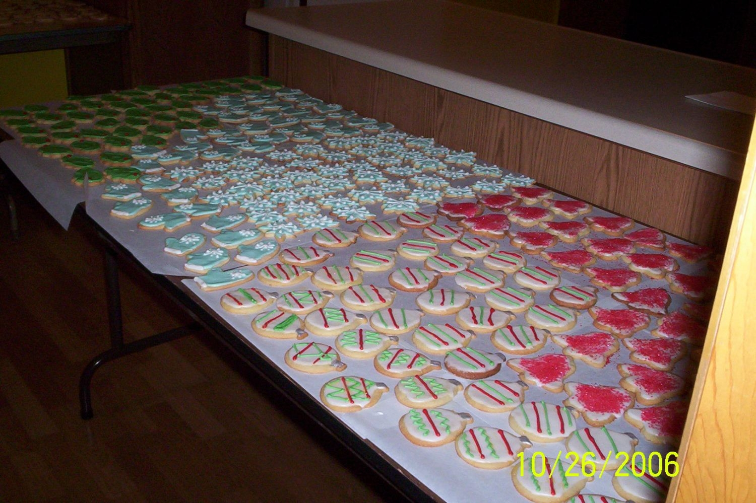 Cookie Factory Another view of the 50 doz. cookies drying