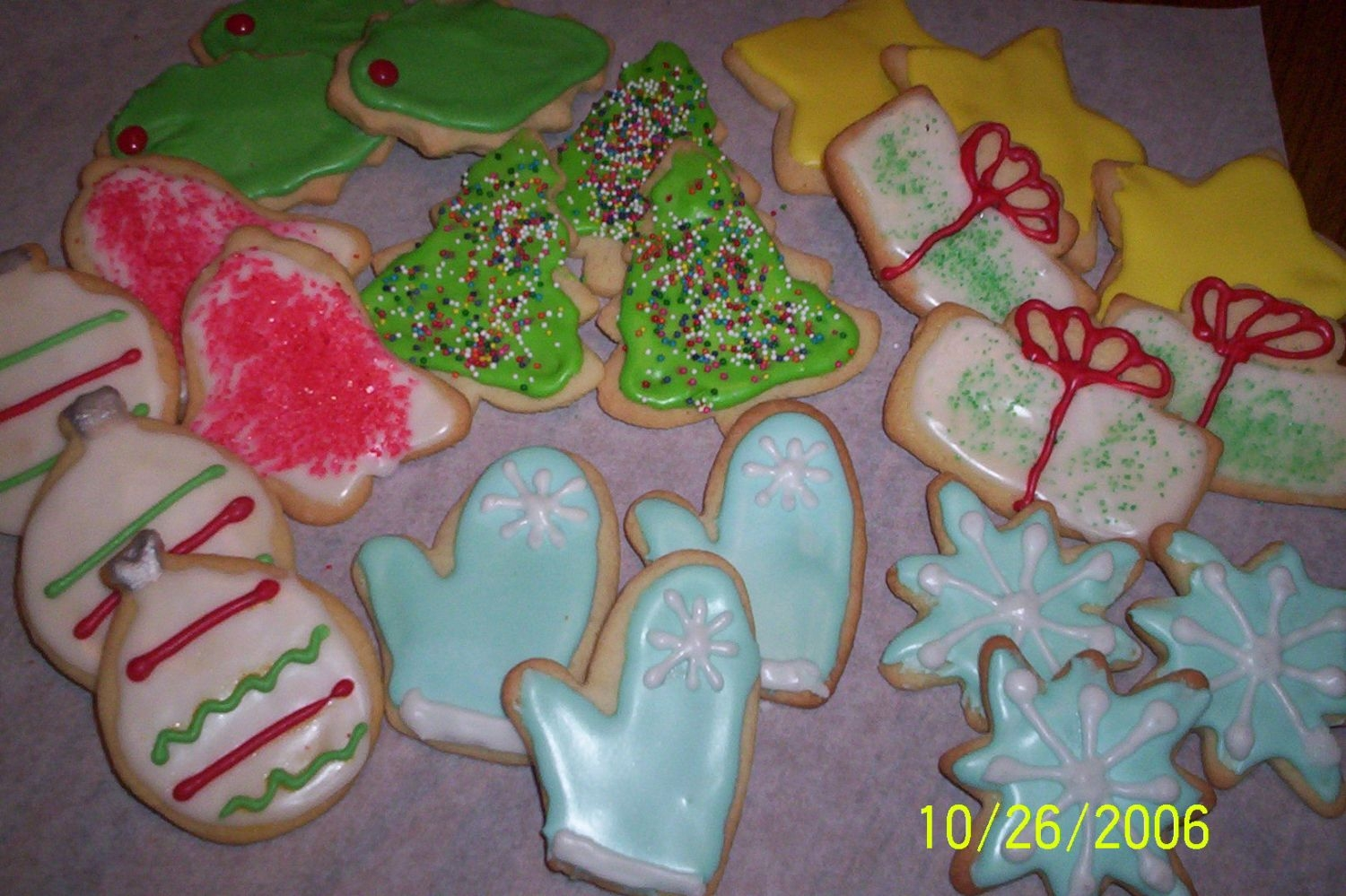 Cookie Factory A picture of my newest Christmas cookies