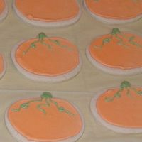 Pumpkin Cookies Pumpkin cookies. Penny's cookies with royal icing.