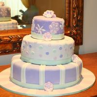 Baby Shower Cake I made this cake as a gift for my cousin's baby shower. Each tier is a reproduction of different fabrics in the baby's room....