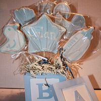 Baby Cookie Bouquet My first time shipping a cookie bouquet. I'm happy to say it got there in one piece :)