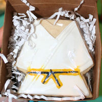 Karate Cookie A gift for my nephew after he received his senior yellow belt in karate