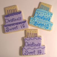 Sweet 16 Cookies Sweet 16 cake cookies. Penny's cookies with royal icing. The inspiration for these came from others here :)