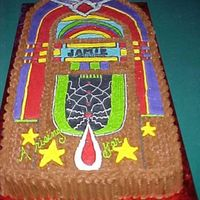 Juke Box Cake Decorated in buttercream