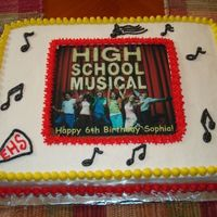 High School Musical Birthday Cake All buttercream with an edible image.
