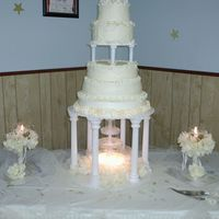 """serenity"" Cakes By Nadine This is a 5 tiered cake I did for my friends wedding on April 28,2006.I named this one Serenity, this was my very first wedding cake that I..."