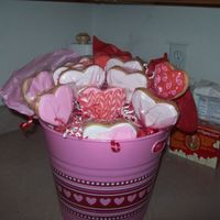 Valentine Birthday  I made these for a friend of mine who's birthday was the day after V-Day after doing so many cookies I just threw in a dozen for her....