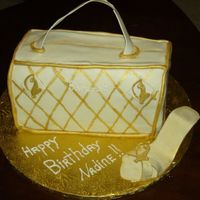 Baby Phat Cake  I did this WASC cake for my soldier's GF who is in love with anything Baby Phat ( clothing line)so I made the purse and shoe for her...