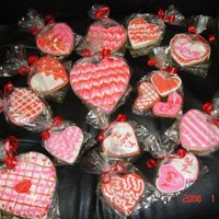 Valentine's Cookie   Just more designs that I made to go in the bouquet. Penny's Cookies and Antonia's RI. Thanks for looking and Comments Welcome.