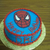 Spiderman  A simple spiderman cake for my nephew who thinks he is spiderman. WASC cake and spiderman is a Chocolate Transfer my first time ever trying...