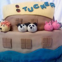 Noahs Ark Pic 1 This was for a baby shower and the babys room was based on Noah's Ark....I think the animals turned out great (if I do say so myself)...