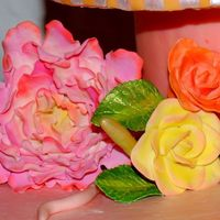 Gum Paste Flowers Peony and roses - i made in Colette Peters class
