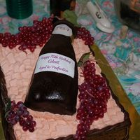 Wine Bottle Birthday Cake This is my first time modeling with RKT. I molded the bottle and covered it with BC and chocolate fondant. The labels were made out of...