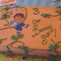 Go Davey Go This was for my nephew's 3rd Birthday. WASC with Sugarshack's BC. I colored the background icing with choclate brown and the...