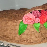 Basketweave Cake Again other angle