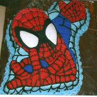 Spiderman I made this for my nephew's fourth birthday. He was really into Spiderman at the time and loved it.