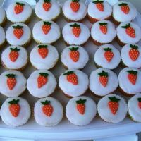 Strawberry Cupcakes Got the idea for these off the Wilton website. Strawberry cupcakes with buttercream icing. Strawberries made with buttercream.
