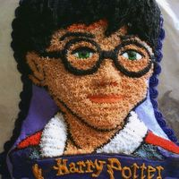 Harry Potter Birthday Cake Made this for my son's 8th birthday. First character cake I've ever done. Everyone seemed to really enjoy it.