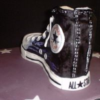 Converse Cake - Another Angle Here is the view from the back of the boot!!