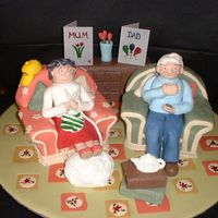 Mum And Dad ! I based this on the Wallace and Gromit cake that I did previously!