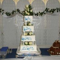 Blue Leaf Wedding Cake