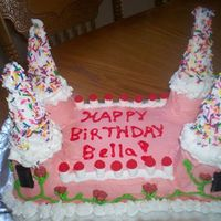 My 1St Castle Cake This was a cake for my friend daughters 8th B-day. She wanted a pink castle - it was a big hit. I can't wait to do another one, now I...