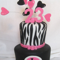 Kara's Girly Cake All fondant...tfl!
