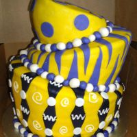 Lsu Topsy Turvy LSU Topsy Turvy Cake. Covered in MMF.