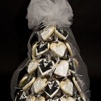 Wedding Tree This was made for the daughter of a co-worker for her bridal shower. The cookies are NFSC with RI details. TFL