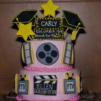 Cookie Graduation Cake My daughter graduated from Columbia College Chicago with a degree in TV Production. The cookies reflect her hard work and hopes and dreams...