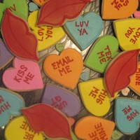 "Conversation Hearts I made these as a ""silent auction"" item for the PTA at my school. NFSC with RI. Happy Valentine's Day!"