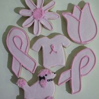 "Think ""pink"" I made these as a raffle item to help raise money for a local ""Relay For Life"" team, which is a fundraiser for the American..."