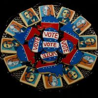 "Vote 08 Just doing my part to get out the vote! I made these for the teacher's lounge at my school. I'll be watching to see which ""..."
