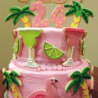 Tropical Birthday I made this for my daughter who lives in Chicago (I'm in Detroit area) The cake left with her friends in two separate tiers and she...