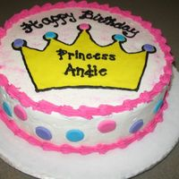 Princess Birthday Cake Crown is FBCT. Polka dots are MMF. Everything else is buttercream.
