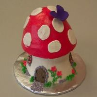 Mushroom House   Made this from the giant cupcake pan