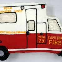 Ambulance Cake 2-d cake...buttercream..very fun to decorate...