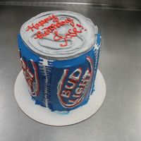 Bud Light Cake whipped cream...tall cake...