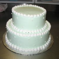 Mint Green Cake small wedding cake....