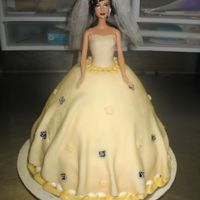 Barbie Cake For Bridal Shower a fun cake to make...time consuming though! :)fondant dress....